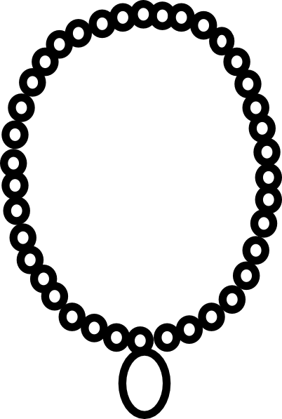Necklace Outline Clip Art At Clker Com   Vector Clip Art Online