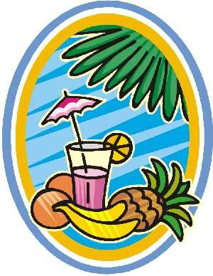 Palm Tree Clipart   Drink With Coconuts And Banan