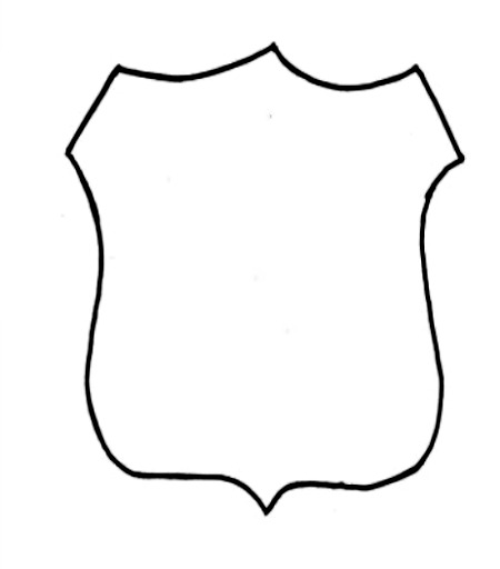 Police Officer Badge Outline   Clipart Best