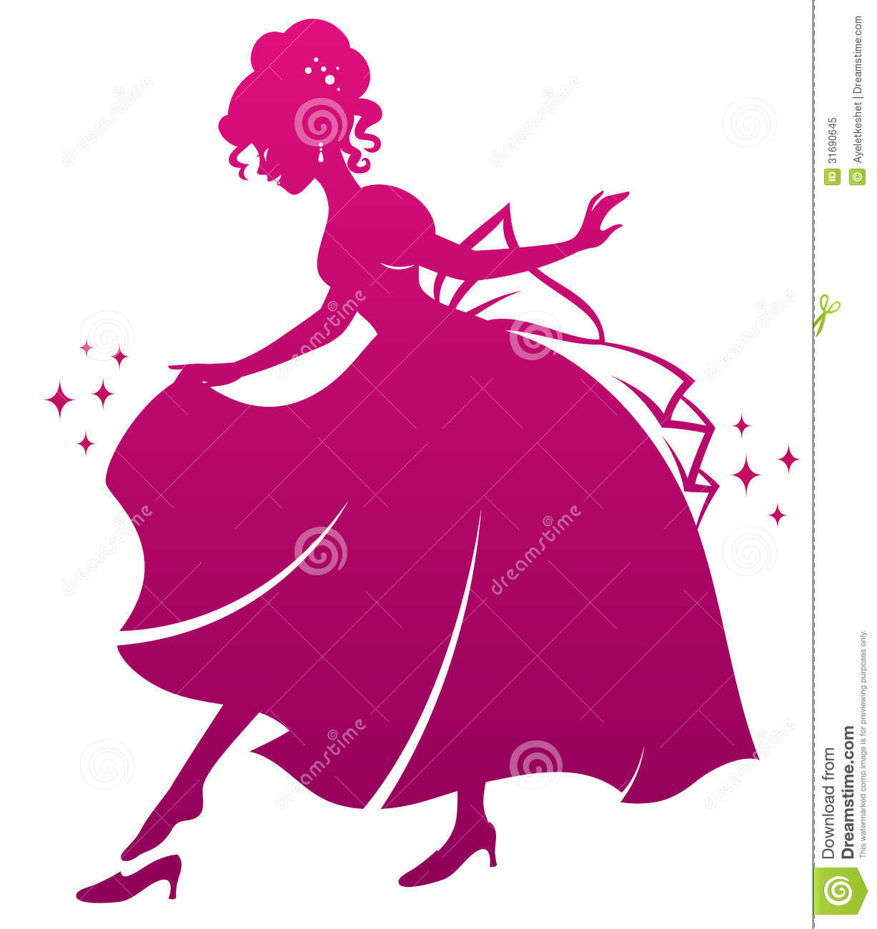 Princess And Her Shoe Royalty Free Stock Photo   Image  31690645