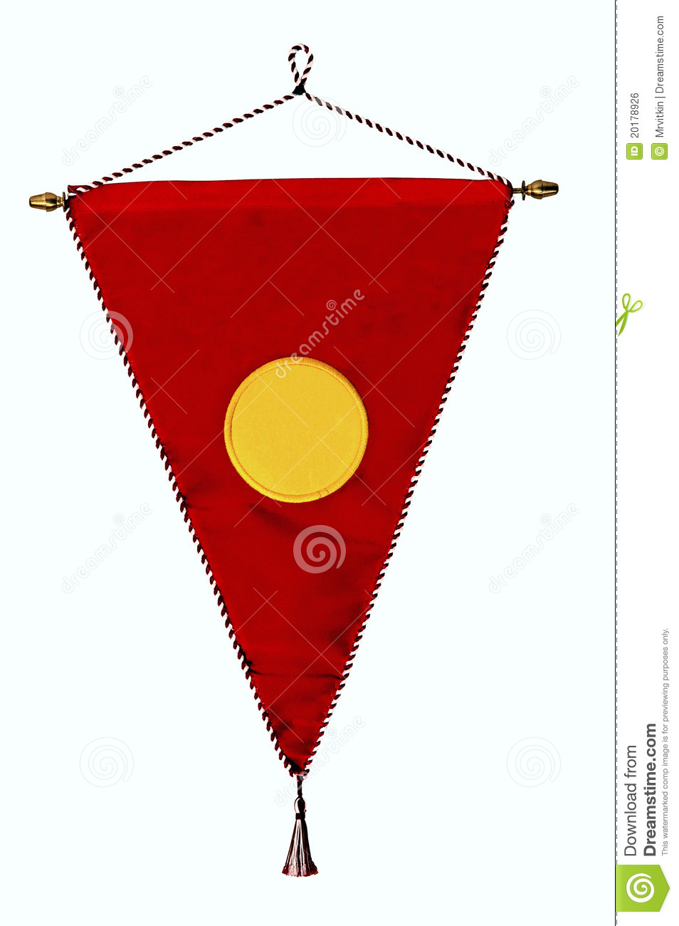Red Triangle Clipart Stylish Red Pennant Or