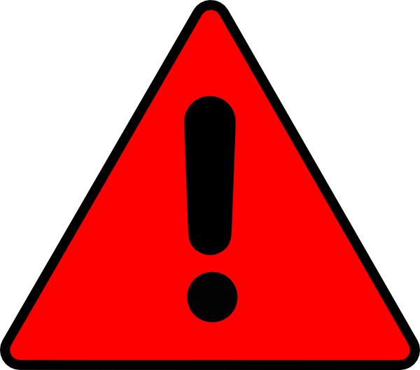 Red Warning Triangle   Free Cliparts That You Can Download To You