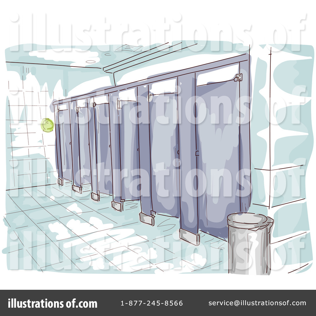 Bathroom Stall Illustration