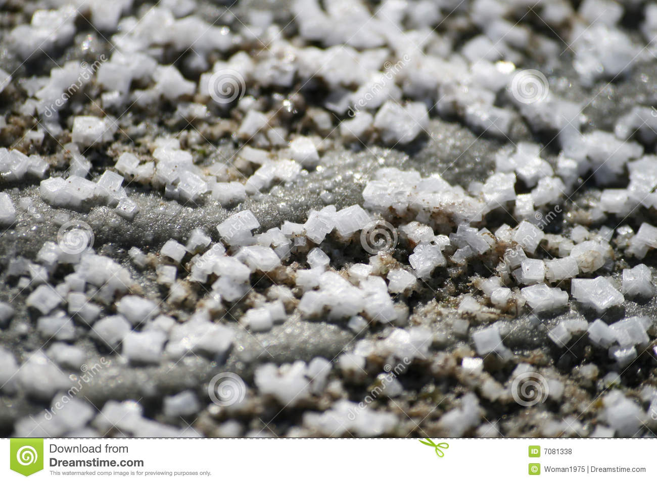 Salt Crystals On Grey Sand Royalty Free Stock Photos   Image  7081338