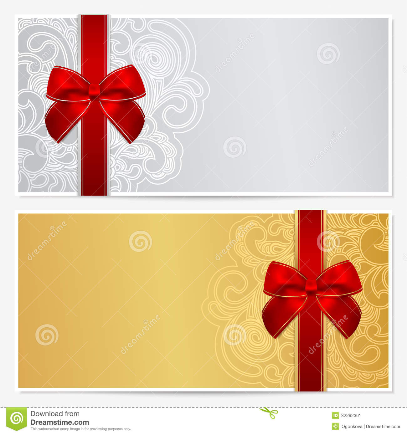 gift certificate template clipart clipart kid voucher gift certificate coupon template border frame bow