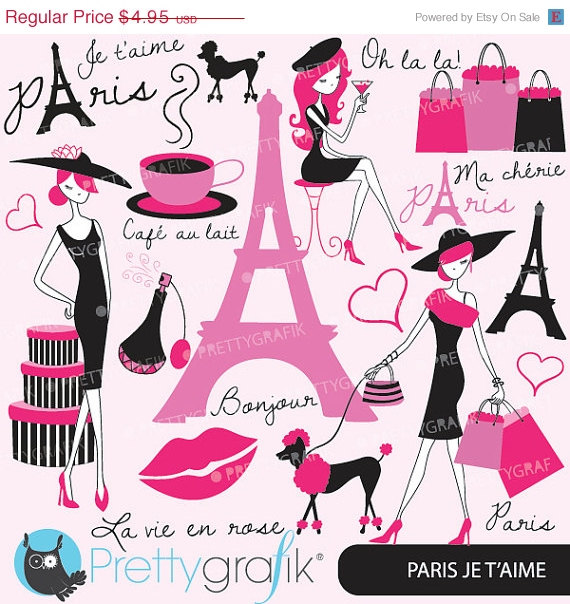 80  Off Sale Paris Fashion Clipart For Scrapbooking Commercial Use
