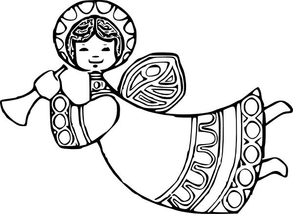 Angel With Horn Clipart - Clipart Kid