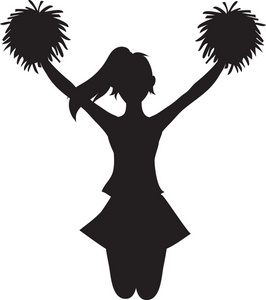Clip Art Pom Pom Clip Art cheerleader no pom silhouette clipart kid chaya hard at work on her xojane article