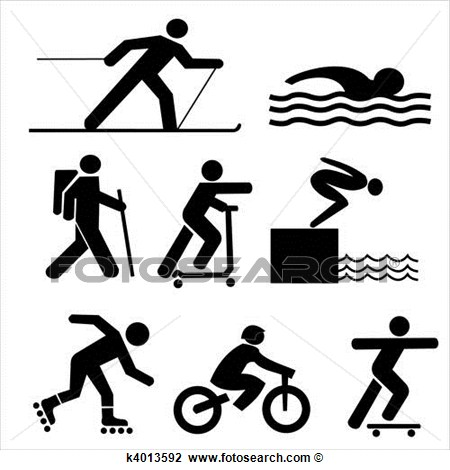 Clip Art   Figures Exercising Silhouettes  Fotosearch   Search Clipart