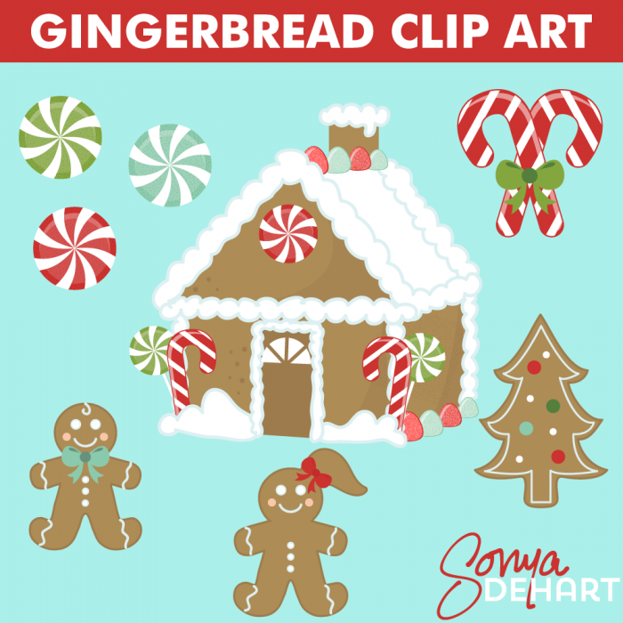 christmas clip art gingerbread house - photo #25