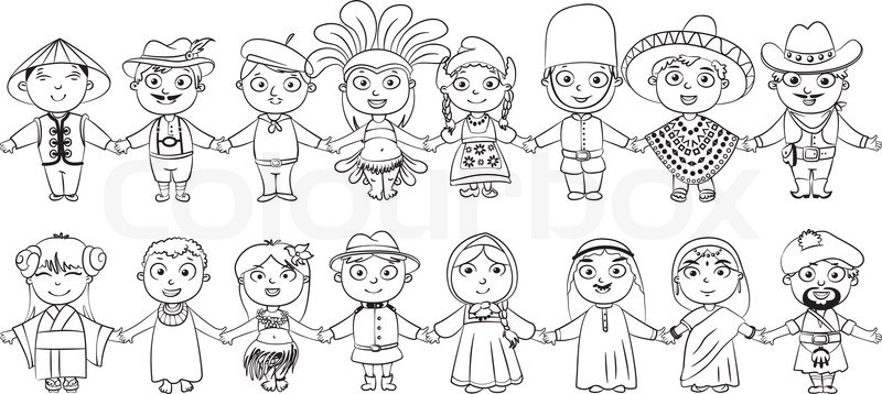 Human Anatomy Fundamentals Advanced Facial Features Cms 20683 furthermore Children Around The World Coloring Pages together with Malvorlage Kinder Der Welt I9281 likewise Kids Around The World Coloring Pages furthermore Coloring Booth At Lincoln Unites. on different nationalities cartoon
