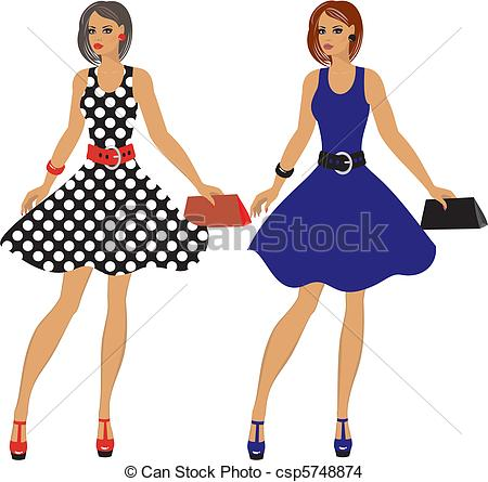 Eps Vector Of Fashion 80s Of Last Century Csp5748874   Search Clip Art