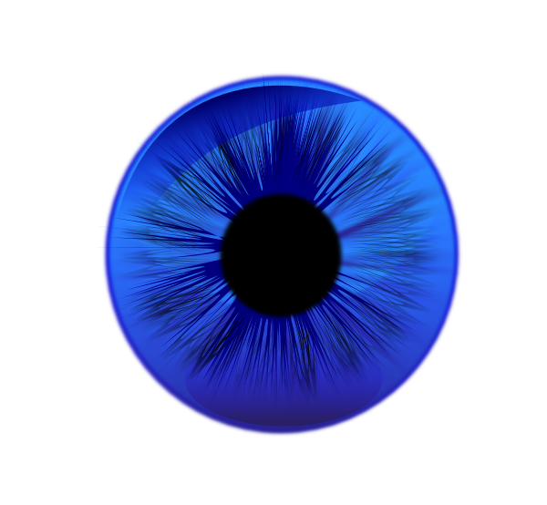 Eye Contact Lens Blue Clip Art