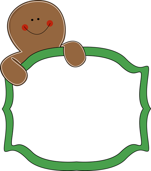 Gingerbread Clip Art Gingerbread Man Sign Png