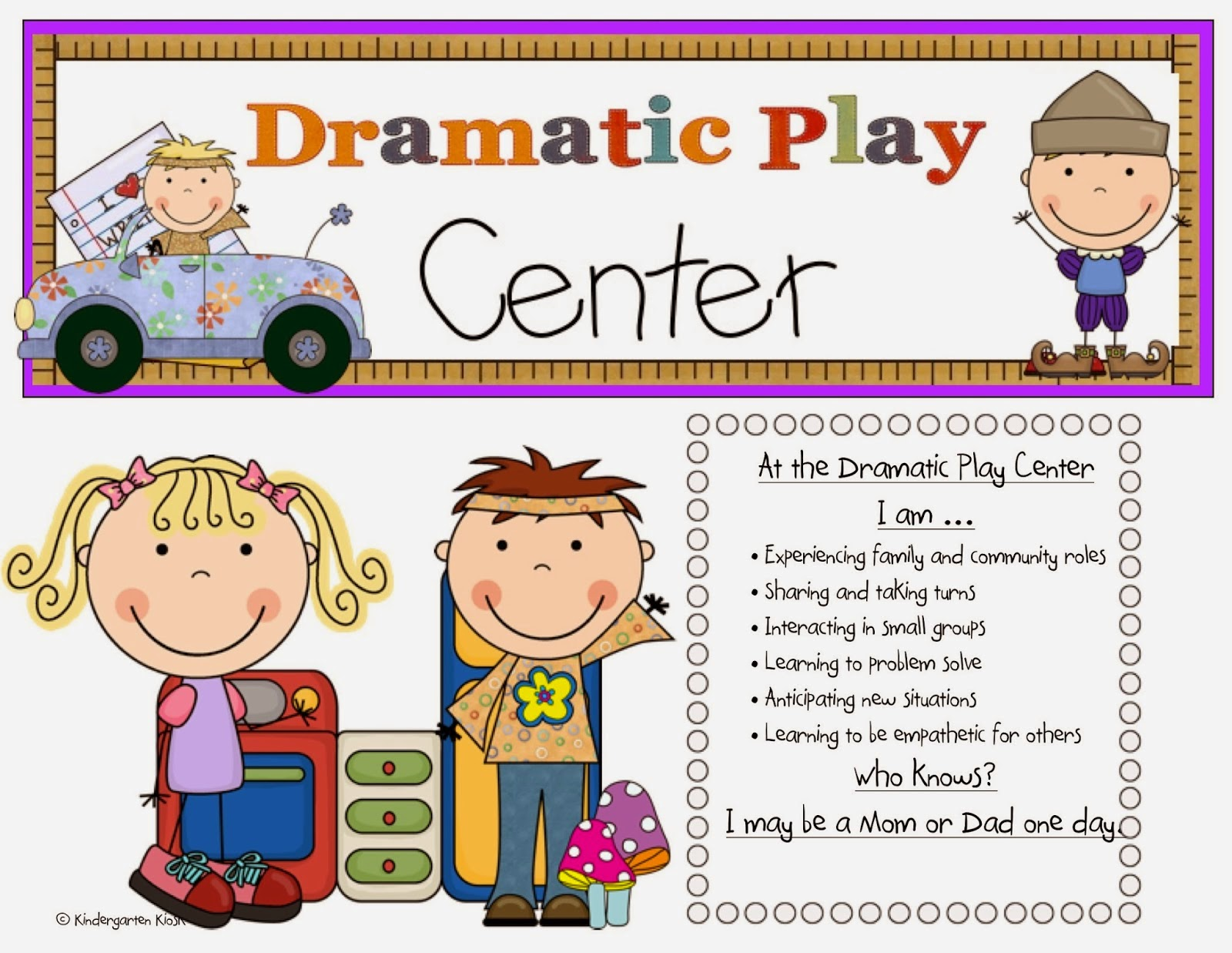 Here Is My Learning Center Poster That Is Posted By My Playhouse