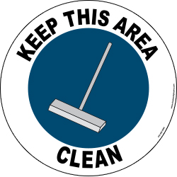 Keep This Area Clean   Visual Workplace Inc