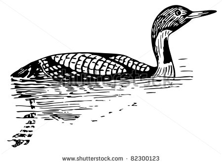 Loon Silhouette Clip Art Bird Black Throated Loon