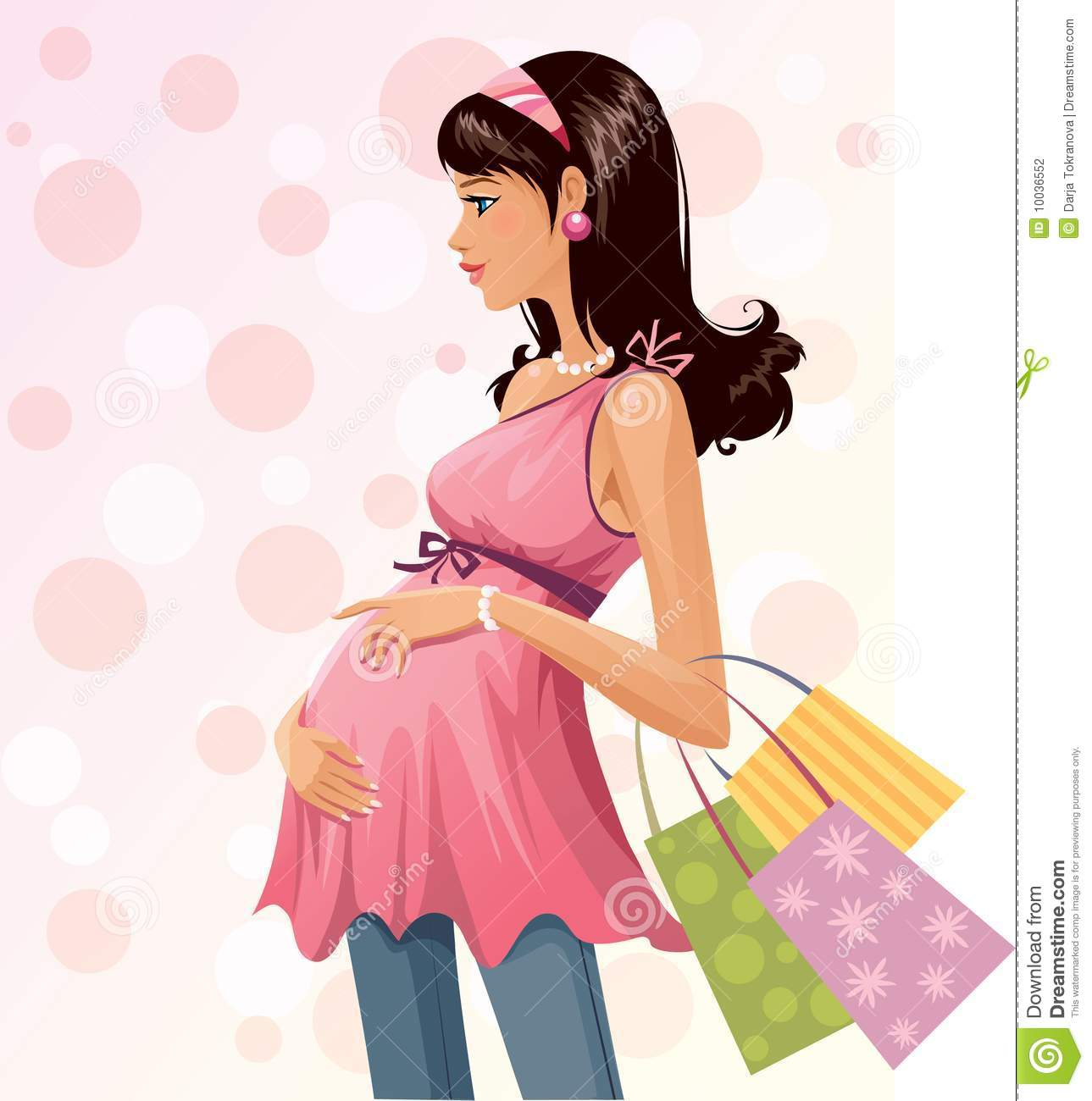 Pregnant Shopper Stock Photography   Image  10036552