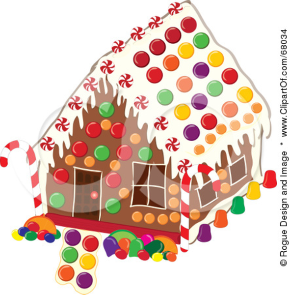 christmas clip art gingerbread house - photo #6