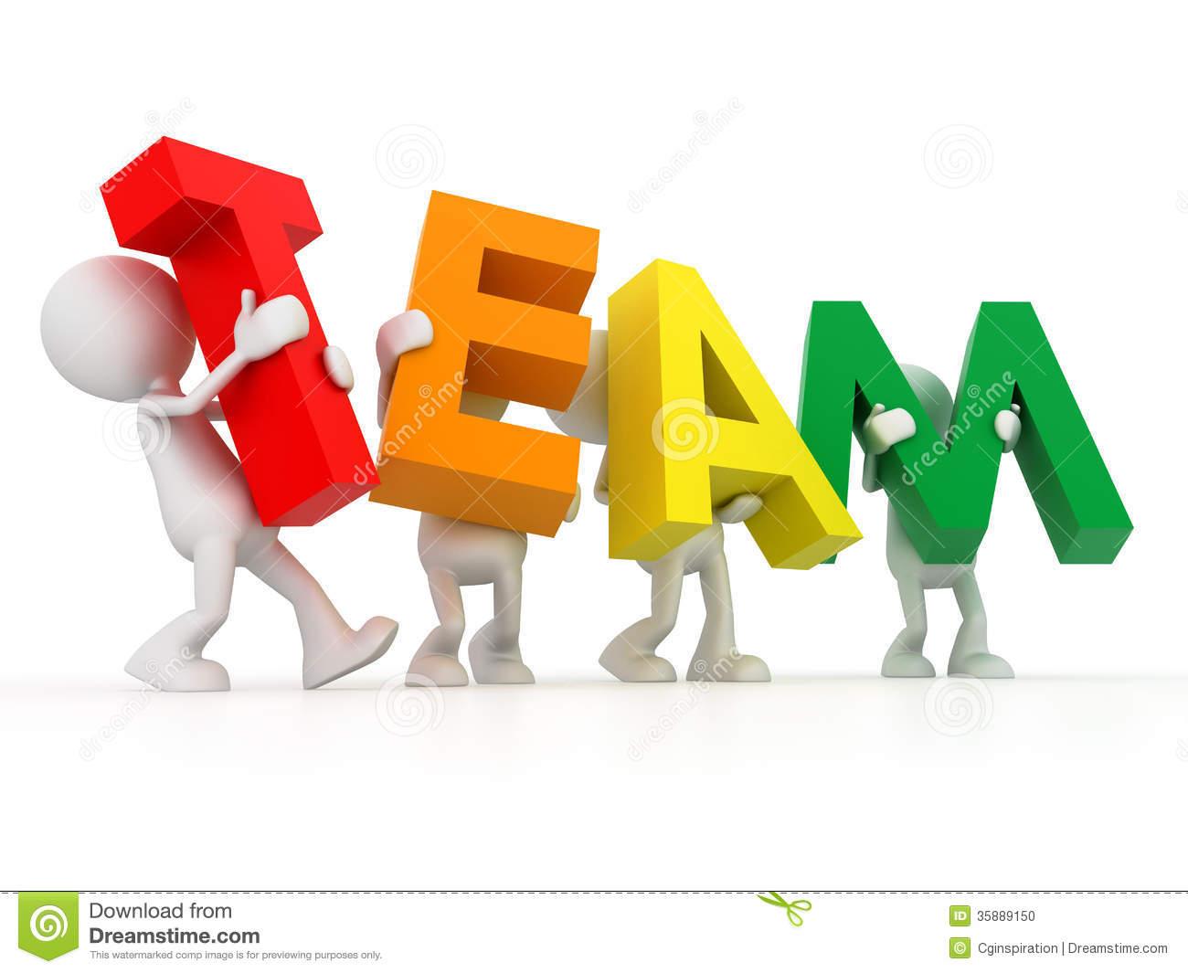 3d Clip Art Of The Team Word