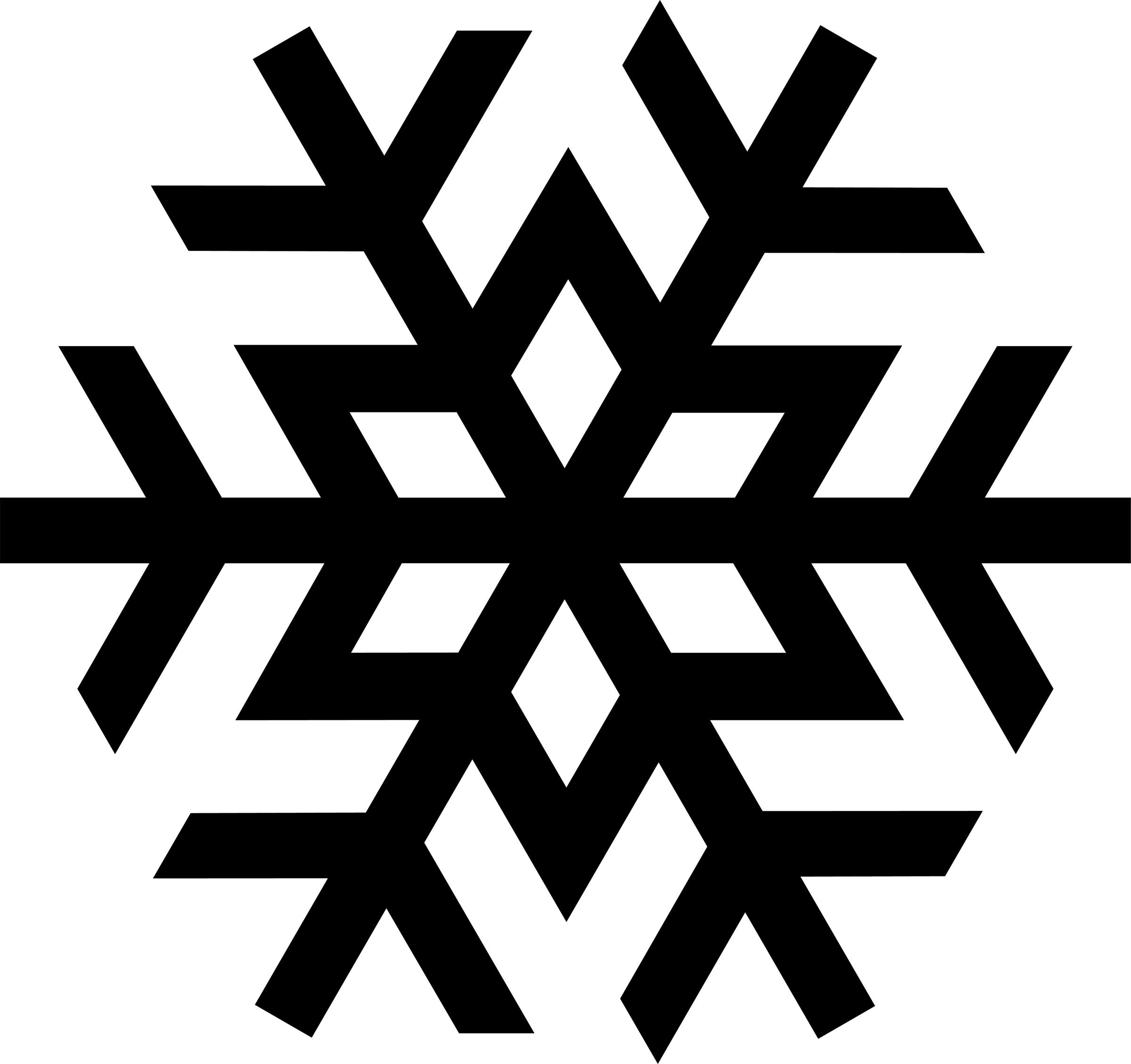 Black Snowflake Clipart Biye6ogil Jpeg