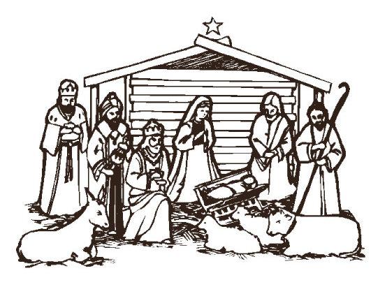 Christian Christmas Nativity Clipart - Clipart Suggest