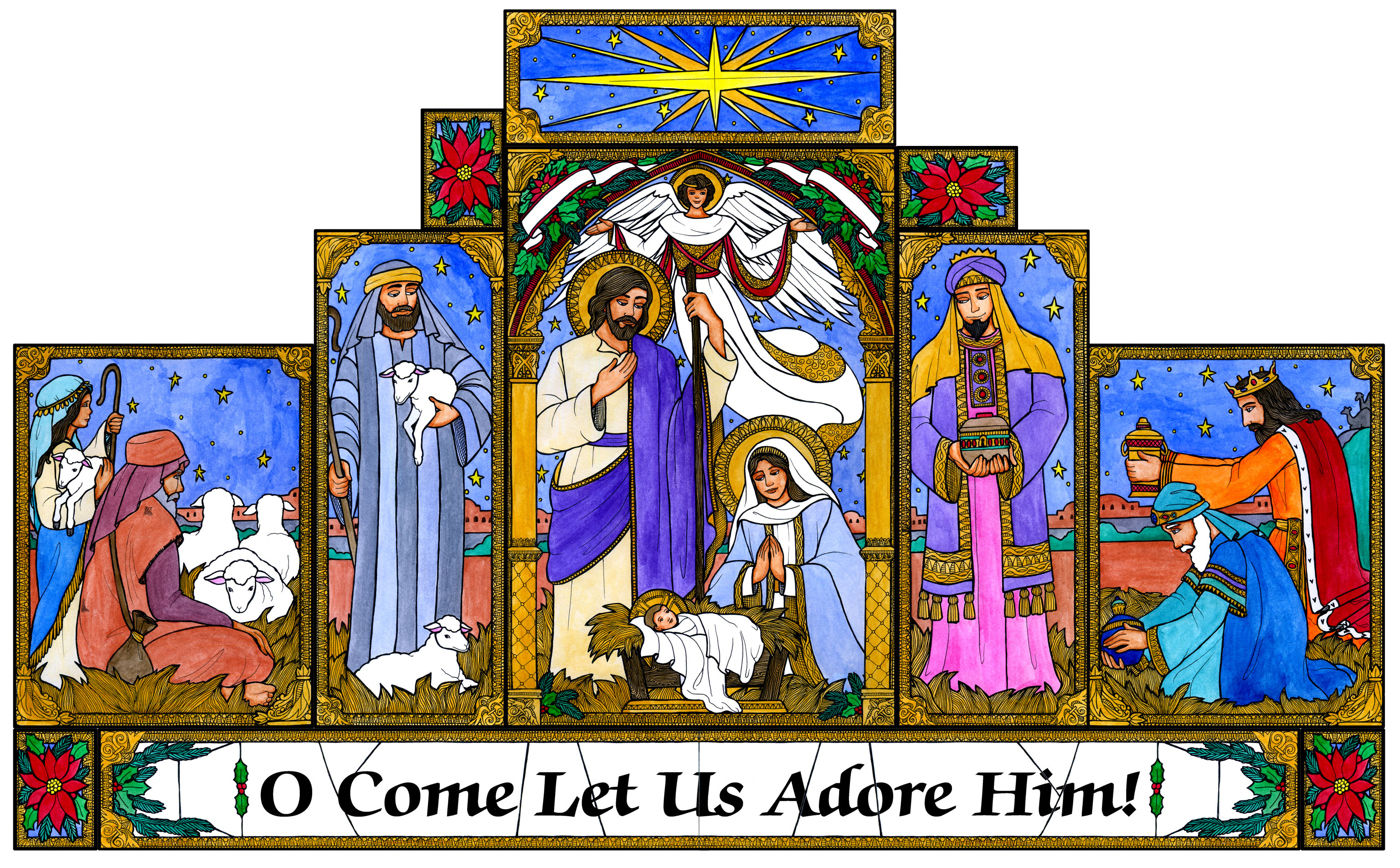 Christmas Nativity Scene Clipart - Clipart Suggest
