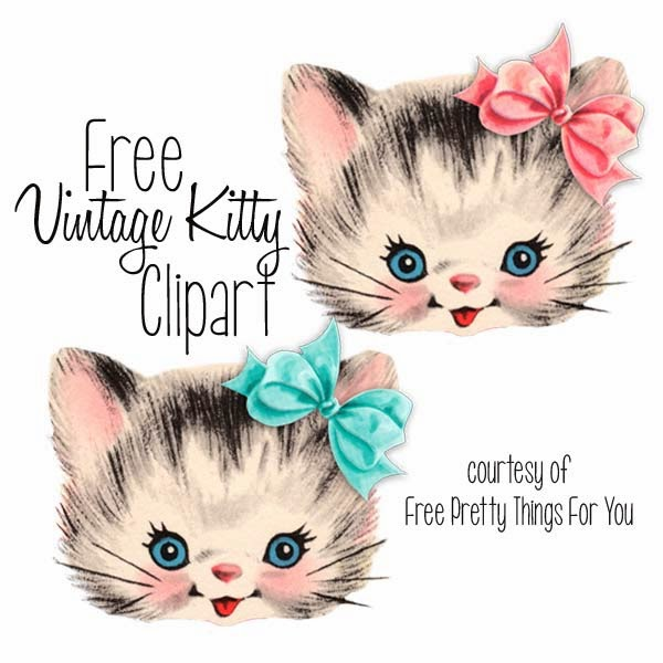 Clip Art Vintage Cats Kitties Clipart Cat Kitten Kitty Kittens