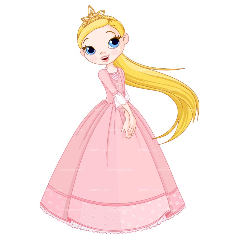 Clipart Cute Little Princess   Royalty Free Vector Design