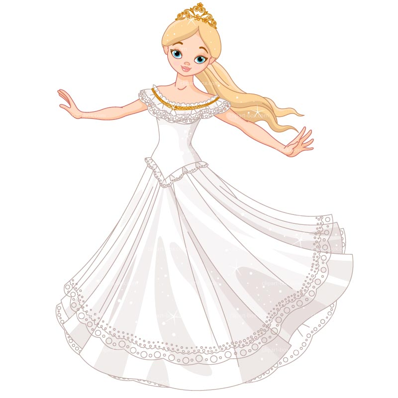 Clipart Princess Dancing   Royalty Free Vector Design