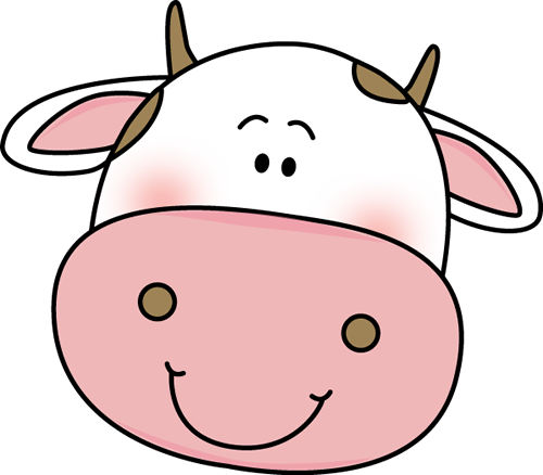 Cow Head Clip Art Image   Cute Smiling Cow Head With Brown Spots