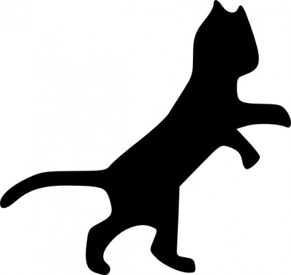 Dancing Cat Clip Art Free Vector In Open Office Drawing Svg    Svg