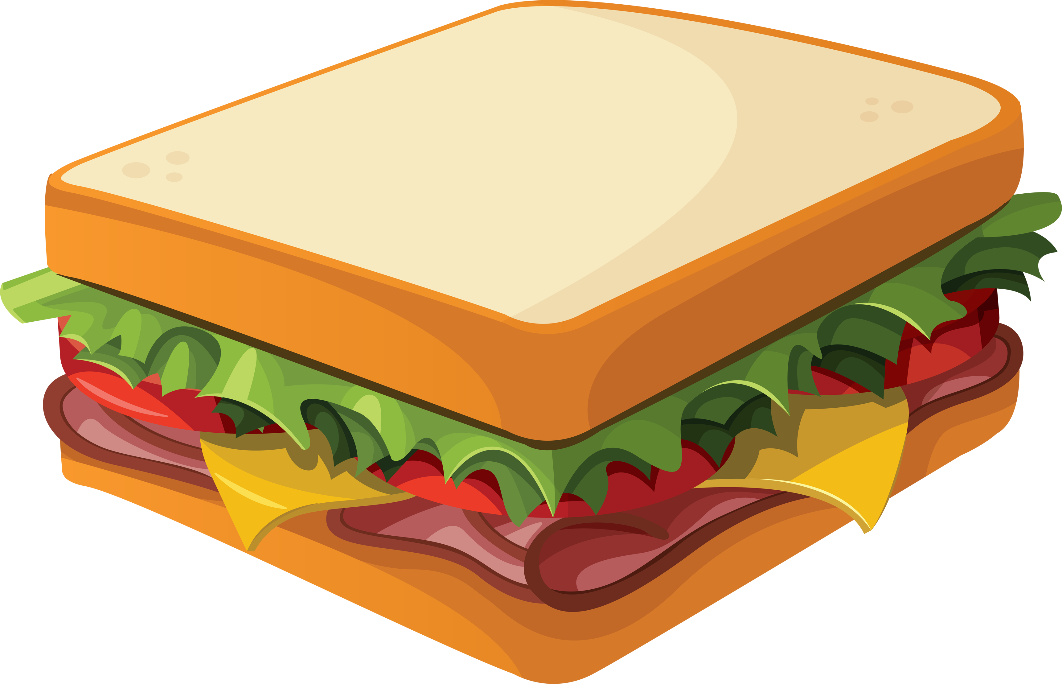 Clip Art Breakfast Sandwich Clipart - Clipart Kid