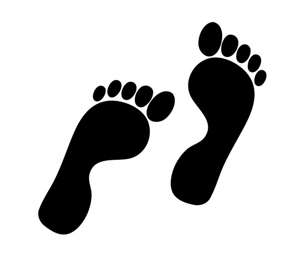 Footprints Silhouette Clipart Free Stock Photo   Public Domain