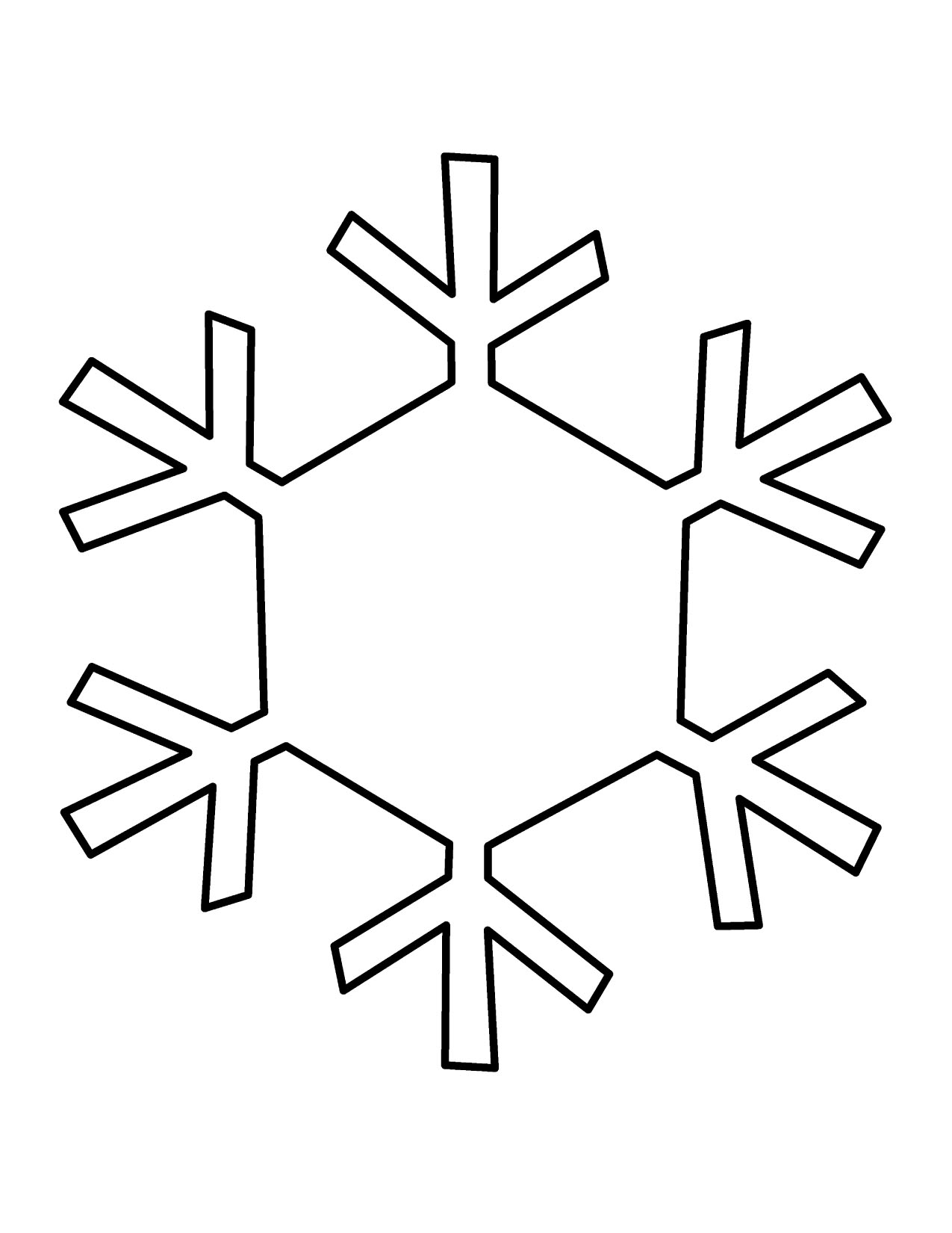 Simple Snowflake Clipart - Clipart Kid