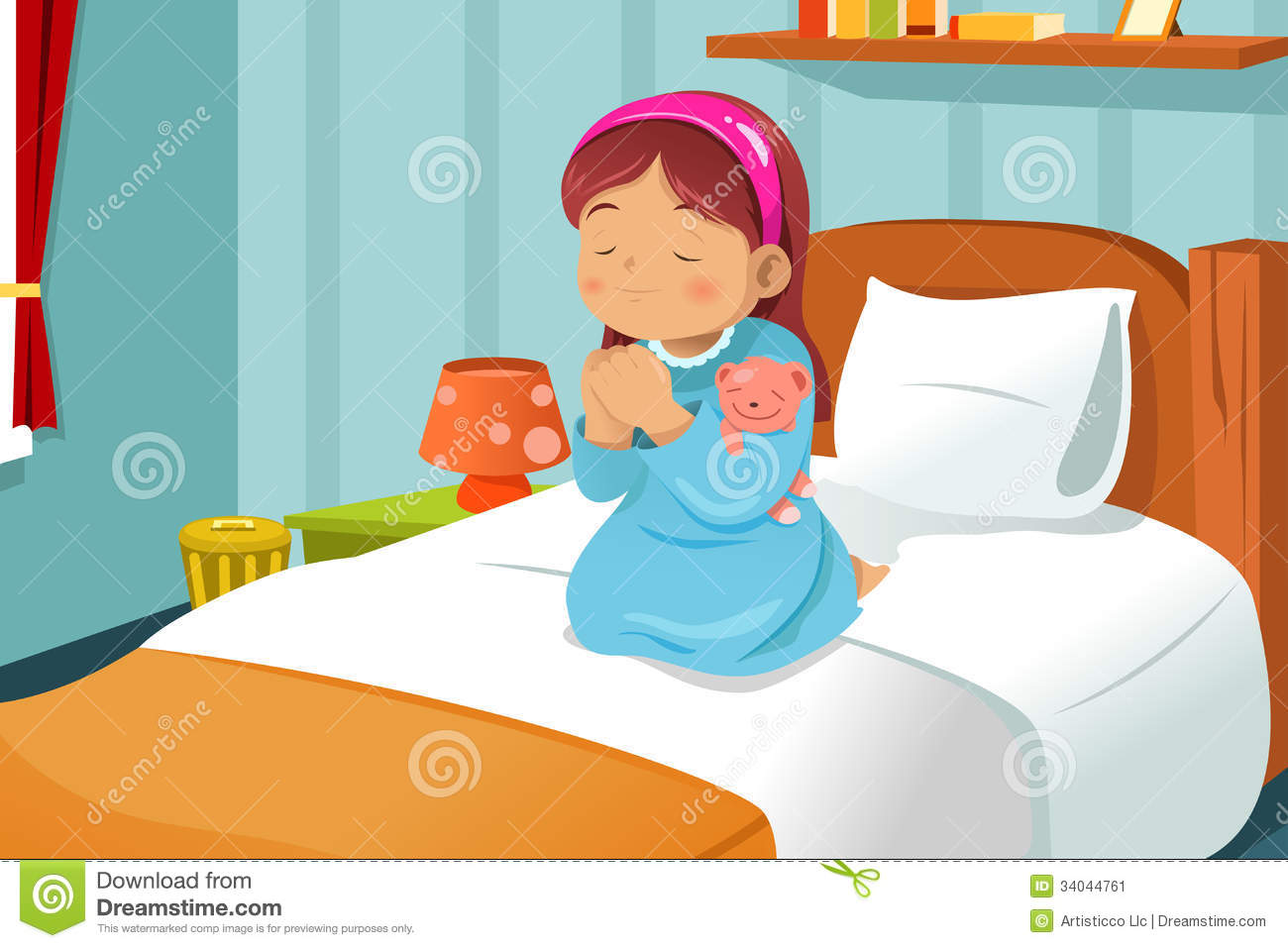 Girl Bed Clipart Clipart Suggest