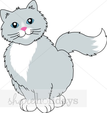 Gray Cat Clipart   Party Clipart   Backgrounds