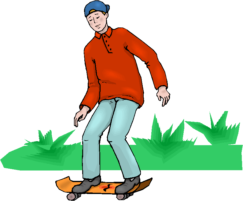 Man Play Skateboard Free Microsoft Clipart