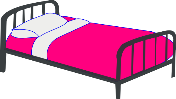 Pink Bed Clip Art At Clker Com   Vector Clip Art Online Royalty Free