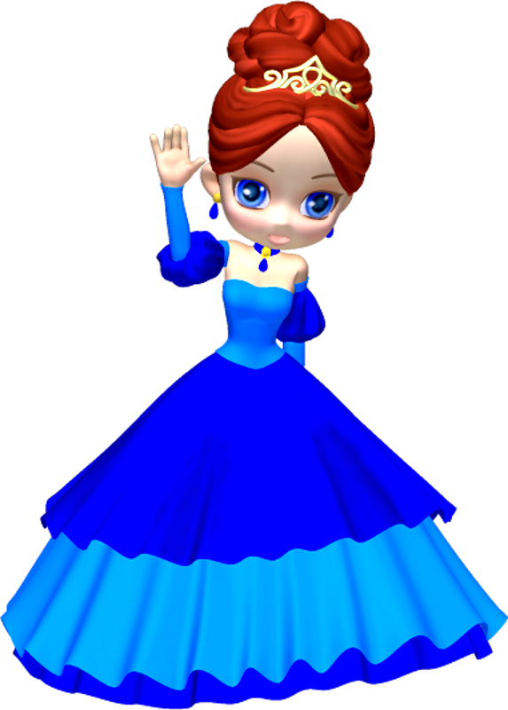 Princess In Blue Poser Png Clipart  3  By Clipartcotttage On