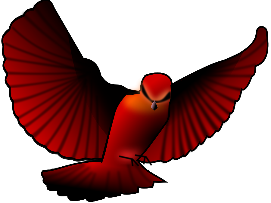Red Bird Clipart - Clipart Kid