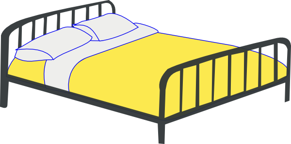 Rfc Double Bed Clip Art At Clker Com   Vector Clip Art Online Royalty