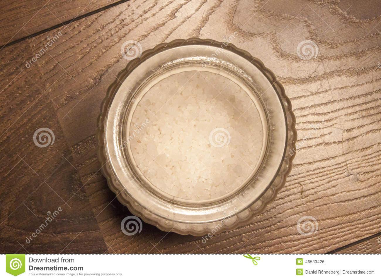 Rock Salt In A Glas Pot Stock Photo   Image  46530426