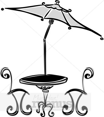 Sidewalk Cafe Clipart