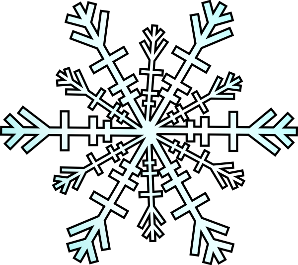 Black Snowflake Clipart - Clipart Kid