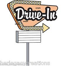 Vintage 50 S Drive In Sign 60 S Drive Ins Theater Personalized Address
