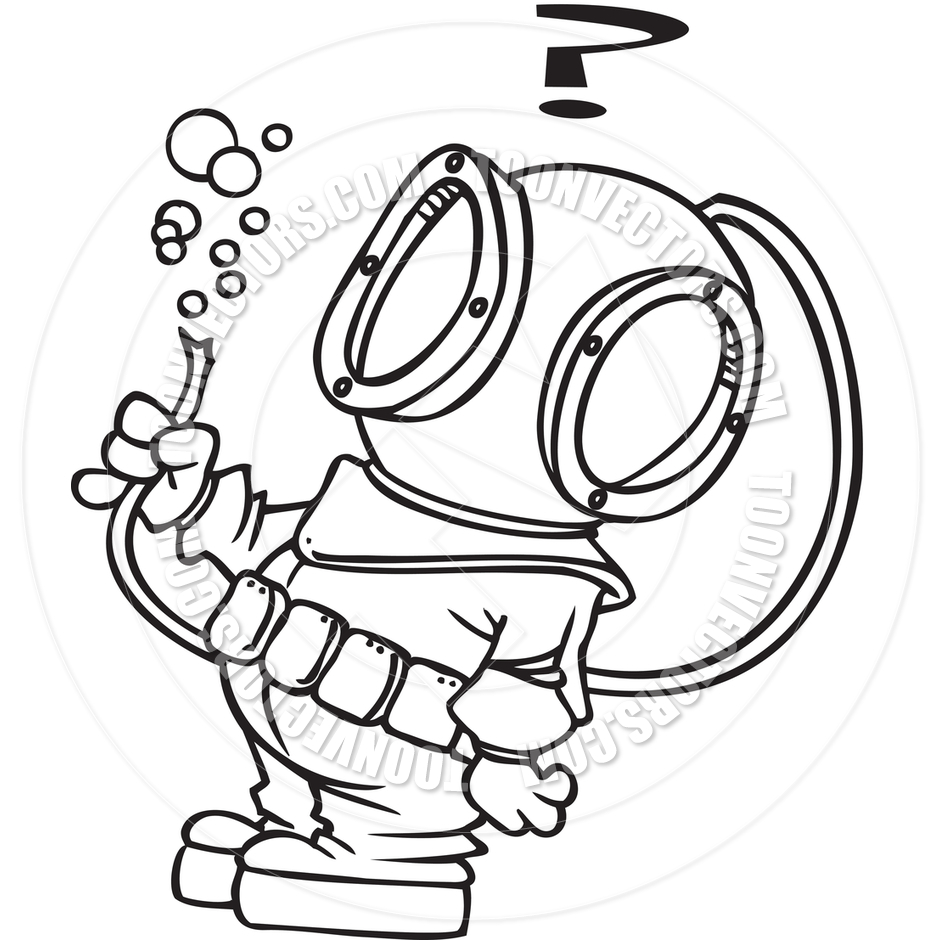 Deep sea diving clipart clipart suggest for Deep sea diver coloring page