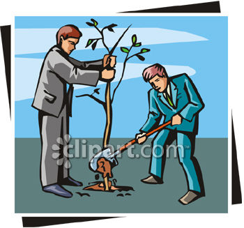 Cartoon Of Girl Planting A Tree By Matthias