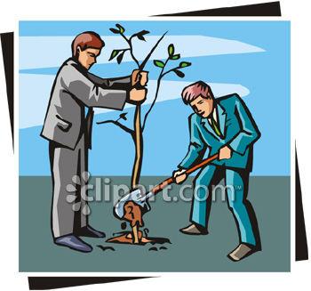Cartoon Of Girl Planting A Tree By Matthias