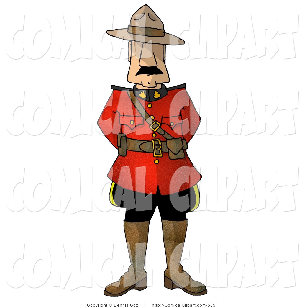 Clip Art Of A Royal Canadian Mounted Police  Rcmp  Officer In Uniform